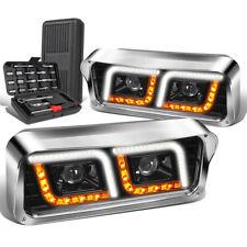 For 1981-2019 Western Star 4800 Kenworth W900 LED Turn Signal Headlight+Tool Box