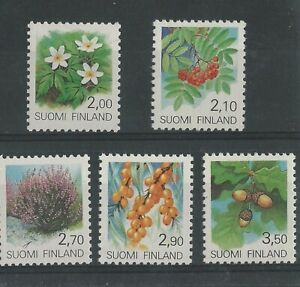 1990  FINLAND - SG: 1205/09 - PROVINCIAL PLANTS - UNMOUNTED MINT