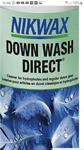 Nikwax Down Direct washin  Cleaner water repellant puffa feather 300ml #B398