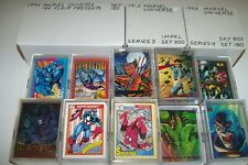 marvel card lot 180 different cards from set breaks great lot no doubles
