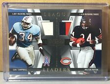 2009 NATIONAL TREASURES PRIME JERSEY #5 EARL CAMPBELL WALTER PAYTON 10/25