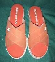 Converse One Star Orange Egret Womens Sports Sandals Slide Slipper 564146C 8.0 M