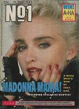 Madonna on Magazine Cover 1987   Genesis   Timothy Dalton   Sam Fox   Whitesnake