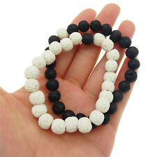 Couple Healing Reiki Chakra Lava Rock Diffuser Bracelet Stretch Bracelets Beaded