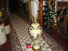 Vintage Trophy Urn Vase Table Lamp-Greek Roman Painting-Handles-#1-LQQK