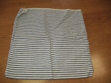 vintage navy blue and white stripe pillow ticking cover case 15x15 square