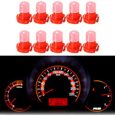 10Pcs T3 Neo Wedge LED Bulb Cluster Instrument Dash Climate Base Lamp Light Red