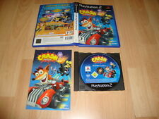 CRASH TAG TEAM RACING CON CRASH BANDICOOT PARA LA SONY PS2 USADO COMPLETO