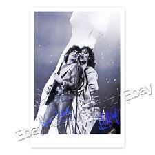 Mick Jagger and Ronnie Wood - Rolling Stones - Autogrammfotokarte laminiert [K2]
