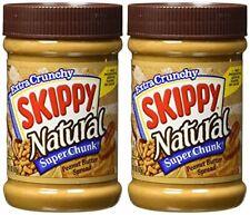 Skippy Super Chunk Natural Peanut Butter Spread, 15 oz. (2-Pack)