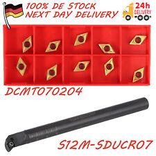 Bohrstange S12M-SDUCR07 Drehmeißel Klemmhalter mit 11x Wendeplatten DCMT070204