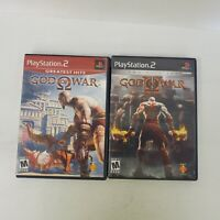 God Of War PS2 Playstation 2 Game Lot : Greatest Hits + II Black Label Complete