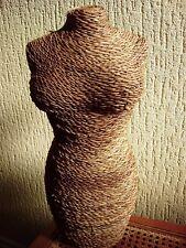 Vintage wicker mannequin, female torso, shop dummy, display