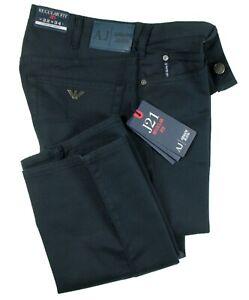 ARMANI Jeans Herren Hose J21 Regular Fit dunkelblau Gabardine Stretchanteil