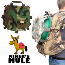 MINER' MULE Back Pack Carry Extending Pouch Bag HOLDS gold pans scoops + Gear