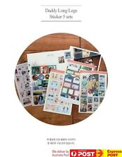 KOREA MADE Indigo [DADDY LONG LEGS] Classic Story Sticker Sets in 5 Sheets