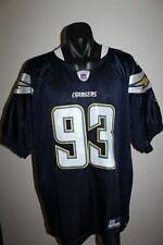 NFL Los Angeles Chargers Jersey Shirt Castillo No.93 Size Men's 54
