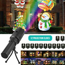 LED Laser Projector Lights Halloween Xmas Outdoor Garden Landscape 12 Pattern