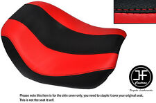 DESGN 2 BLACK RED VINYL CUSTOM FITS HARLEY NIGHT V ROD SPECIAL FRONT SEAT COVER