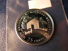 CANADA 1992 NEW BRUNSWICK SILVER 25 CENT COIN BEAUTY! FROM MINT SET