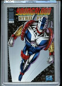 Youngblood Strikefile #1 CGC 9.8 White Pages Liefeld art and cover