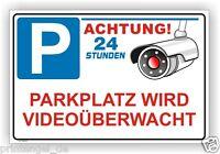 Schild,Parkplatz,videoüberwachung,videoüberwacht,video,Warn,Hinweisschild,Vi64