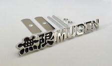 JDM BLACK Mugen Grill BADGE Metal Chrome Front Badge Bumper Grille HONDA CIVIC