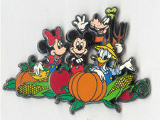 DLR Halloween Fall Thanksgiving 2001 Fab 4 in the Pumpkin Patch 3D pin