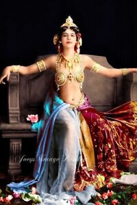 "1905 Mata Hari Courtesan Exotic Dancer WW1 Spy 4""x6"" Colorized Reprint Photo MH4"
