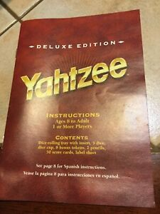 Yahtzee Deluxe Edition Instruction Manual Replacement Part Vtg 1997 MB Dice Game