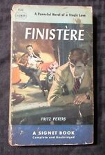 1952 FINISTERE by Fritz Peters 1st Signet 930 Paperback GD
