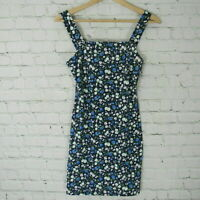 Hollister Dress Womens Small S Navy Floral Pattern