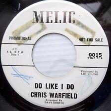 CHRIS WARFIELD country pop promo DAVE GRUSIN 45 DO LIKE I DO / TAKE A WALK JR655