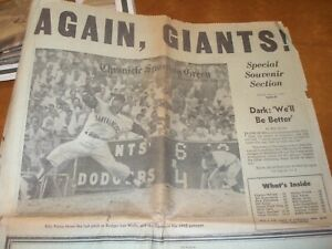 1963 San Francisco Chronicle Giants Opening Day Sports Section - Billy Pierce
