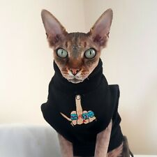 FINGER adult S, Sphynx cat clothes, hotsphynx, hairless cat clothes. funny cat