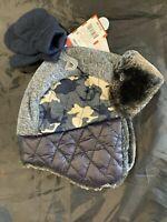 Baby Boys Blue Sherpa Hat & Mitten Glove Set - Cat & Jack 12-24M 2-5T #13