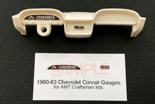 1960 1961 1962 1963 CORVAIR GAUGE FACES for 1/25 scale AMT CRAFTSMAN KITS