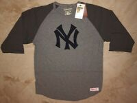 New York Yankees Raglan Long Sleeve Cooperstown T-shirt Mitchell & Ness MLB