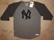 New York Yankees Raglan Long Sleeve Cooperstown T-shirt Mitchell & Ness MLB
