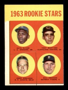 1963 Topps Set Break # 466 Oliver Robinson Freeman Martinez VG *OBGcards*