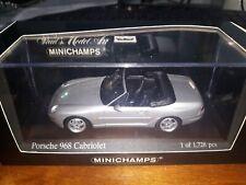 Minichamps 1/43 Porsche 968 Cabriolet 1994 silver