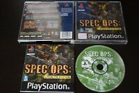Spec Ops: Stealth Patrol Game PS1 PlayStation One Manual Inc Good PAL UK