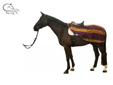 "HKM ""Stripes"" Horse Exercise Sheet Rug Polar Fleece Choice Sizes Free Delivery"