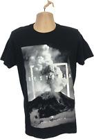 Mens T Shirt Size Medium Black White Dystopia Shirt 100% cotton FreeP&P mens Top