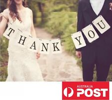 Thank You Party Wedding Engagement Birthday Sign Bunting Garland Prop Decoration