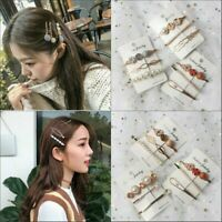 Fashion Pearl Hair Clip Hairband Comb Bobby Pin Barrette Hairpin Headdress 3PCS