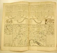 Henri Chatelain 1720 Carte de la cour la Maison d'Autriche comtes d'Habsbourg