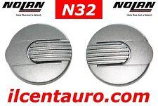 NOLAN CASCO N32 COPPIA COVER MECCANISMI VISIERA SILVER ARGENTO ORIGINALE