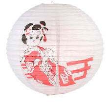 Japanese 16'' Round Paper Lantern Girl's Day Geisha Kimono Home Party Decoration