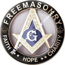 Z-11 Black/Gold Masonic Auto Emblem FreeMasonry Car Lodge Mason PHA